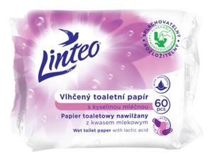 Obrazek Papier toaletowy nawilżany Linteo z kwasem mlekowym 60 sztuk