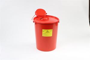 Obrazek Pojemniki na zużyty sprzęt medyczny. Pojemnik na odpady medyczne, kosmetyczne 10 L
