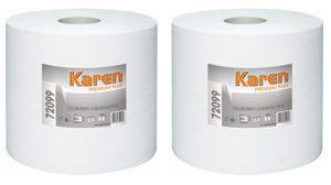 Obrazek Ręczniki papierowe  Ręcznik papierowy 200 m 2 rolki Czyściwo białe 200 m PREMIUM PLUS GRASANT 72099