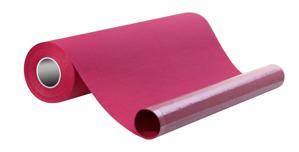 Obrazek Podkład papierowy podfoliowany w roli 50/40 m 2w papieru + 1w folii kolor burgund 1 karton - 9 rolek