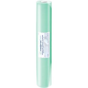 Obrazek Podkład podfoliowany 2w papieru + 1w folii w kolorze zielonym Prześcieradło jednorazowe papierowe podfoliowane 60/40 m perforacja co 50 cm - 18 rolek (2 kartony)