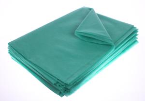 Obrazek Prześcieradło jednorazowe Prześcieradło z włókniny 80x210 cm zielone 400 szt.