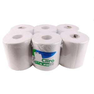 Obrazek Ręczniki papierowe z makulatury Ręcznik papierowy makulaturowy 138 m 6 rolek  CLIRO 62965