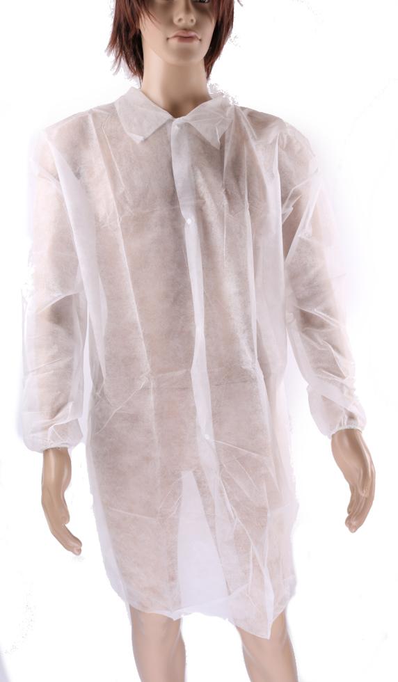 Obrazek Fartuch z włókniny. Jednorazowy fartuch laboratoryjny z włókniny Rozmiar L