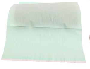 Obrazek Serwety jednorazowe foliowane kosmetyczne do manicure i pedicure 33x46 cm opakowanie 50 sztuk kolor ZIELONY