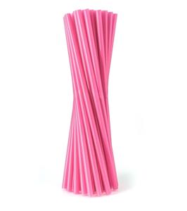 Obrazek Jednorazowa rurka słomka prosta różowa 500 szt. 8x240 mm