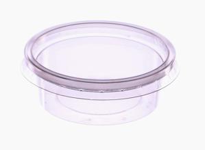 Obrazek Jednorazowy pojemnik na sos 50 ml  Pojemniki na sos z przykrywką Komplet 100 sztuk