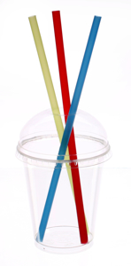 Obrazek Kubek jednorazowy plastikowy do szejka + wieczko wypukłe 300-330 ml 50 sztuk
