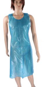 Obrazek Fartuch foliowy 80x150 cm Fartuch jednorazowy wiązany kolor niebieski rolka 50 sztuk