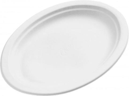 Obrazek Talerze jednorazowy talerz owalny mały 50 szt