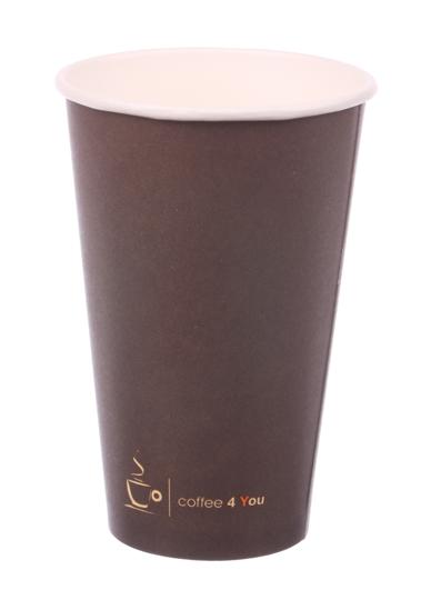 Obrazek Kubek jednorazowy papierowy Coffe 4 You 0,4l/400 ml  100 sztuk