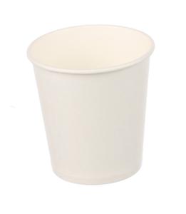 Obrazek Kubek jednorazowy do gorących napojów Papierowe kubki jednorazowe białe 0,1l 100 sztuk