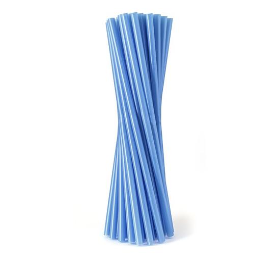 Obrazek Jednorazowa rurka słomka prosta  niebieska 500szt 8x240 mm