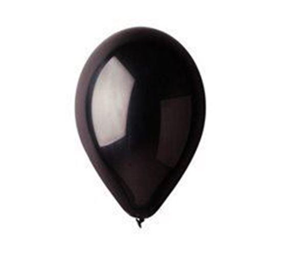 Obrazek WYPRZEDAŻ Balony pastelowe czarne G90/14 obwód 80cm Opakowanie 100 sztuk WYPRZEDAŻ -15%