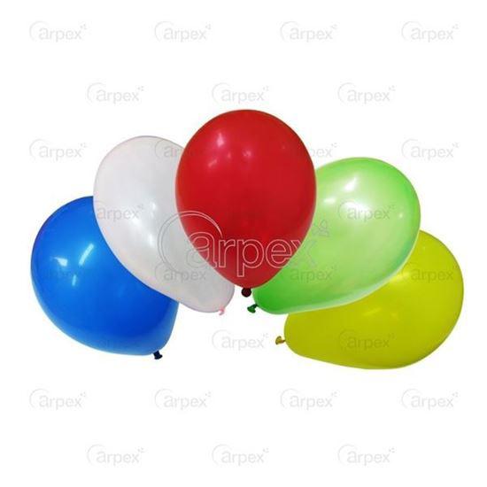 Obrazek WYPRZEDAŻ Balony metalizowane mix kolorów AM50/82 obwód 40cm Opakowanie 100 sztuk WYPRZEDAŻ -15%