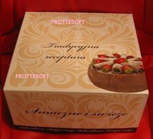 Obrazek WYPRZEDAŻ Opakowanie kartonowe na tort 22x22 cm wysokość 11 cm Opakowanie 16 sztuk WYPRZEDAŻ -15%