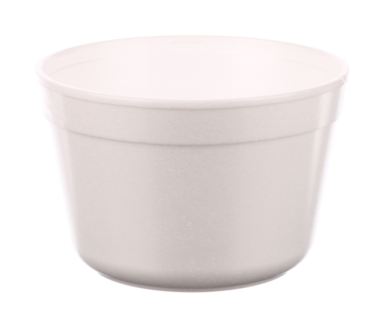 Obrazek WYPRZEDAŻ Jednorazowy styropianowy pojemnik na zupę 910 ml 25 sztuk z wieczkiem WYPRZEDAŻ -15%