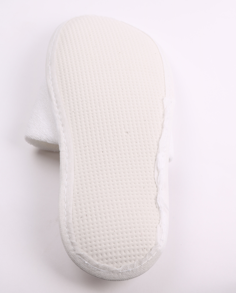 Obrazek Klapki jednorazowe. Kapcie jednorazowe zakryte frotte LUX Kapcie antypoślizgowe podeszwa 5 mm długość 28 cm 1 para KOD-FR4