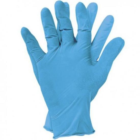 Obrazek Rękawiczki nitrylowe bezpudrowe niebieskie XS 200 sztuk