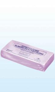 Obrazek Śliniaki stomatologiczne jednorazowe 38x48 cm, kieszeń 14 cm opakowanie 50 sztuk kolor FIOLETOWY