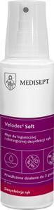 Obrazek MEDISEPT VELODES SILK 250 ml. Profesjonalny Płyn do higienicznej i chirurgicznej dezynfekcji rąk 250 ml