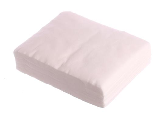 Obrazek Chusty zabiegowe włókninowe 15x20 cm 100 sztuk Chusteczki kosmetyczne z miękkiej włókniny bio