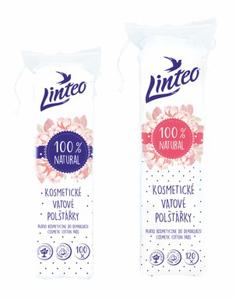 Obrazek Płatki kosmetyczne 100 % bawełny Waciki bawełniane Linteo 120 szt.