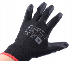 Obrazek Rękawice ochronne IDEALL TECH 70053 Rozmiar 9 1 para Rękawice  dziane bezszwowe pokryte poliuretanem