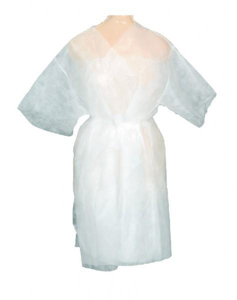 Obrazek Szlafrok jednorazowy włókninowy biały.  Jednorazowy szlafrok kosmetyczny z włókniny  1 sztuka