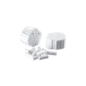 Obrazek Wałeczki stomatologiczne 8 mm wykonane z miękkiej waty celulozowe. Opakowanie 750 sztuk,  średnica 8 mm