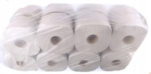 Obrazek Papier toaletowy 1 warstwowy z makulatury szary JAMBO 120 m 16 rolek