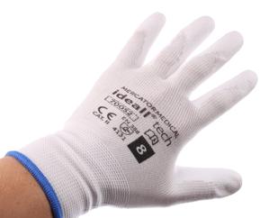 Obrazek Rękawice ochronne IDEALL TECH 70052 Rozmiar 8 Rękawice dziane bezszwowe pokryte poliuretanem 1 para