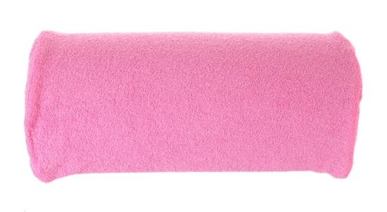 Obrazek Pokrowiec frotte na poduszkę do manicure. Pokrowiec na wałek do manicure frotte 30x15 cm wysokość 7 cm NR. 10 CIEMNY RÓŻ