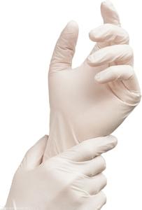 Obrazek Rękawice medyczne Rękawiczki jednorazowe lateksowe bezpudrowe 100 szt. Rozmiar S