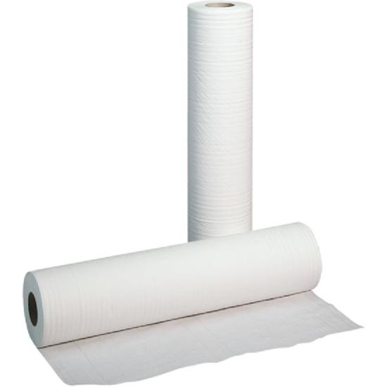 Obrazek Podkład higieniczny 60 cm 80 m Prześcieradło jednorazowe papierowe 60/80 m 1 karton 6 rolek Prześcieradła polskie