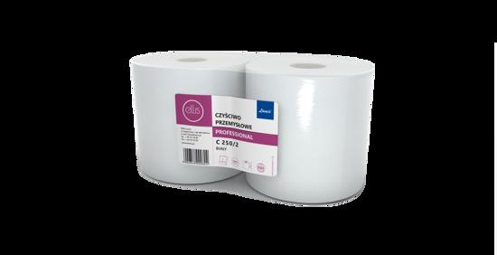 Obrazek Ręczniki papierowe Czyściwo celulozowe 2 warstwowe białe klejone Ręcznik papierowy FI-28 26/240 m 2 rolki C250
