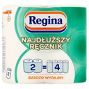 Obrazek Ręcznik kuchenny 2 rolki po 21 m. Ręczniki papierowe REGINA 2 rolki = 4 rolki
