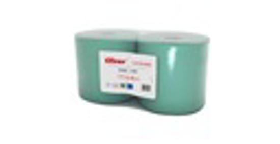 Obrazek Ręczniki papierowe Czyściwo przemysłowe C300 zielone Ręcznik z makulatury wodoodporny 1 warstwowy 300 m 1 rolka C300