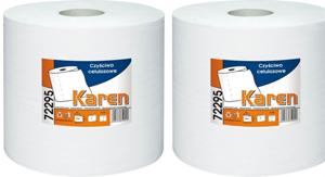 Obrazek Ręczniki papierowe Ręcznik papierowy 310 m 1 rolka Czyściwo białe GRASANT 72295