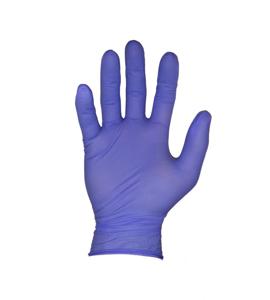 Obrazek Rękawiczki nitrylowe bezpudrowe fioletowe S 10 sztuk. Rękawice diagnostyczne medyczne 10 szt. 5 par