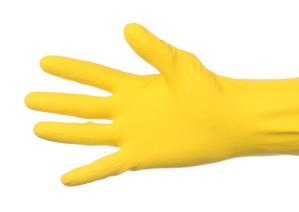 Obrazek Rękawiczki gumowe XL Rękawice gospodarcze gumowe XL żółte 1 para