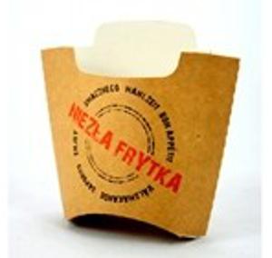Obrazek Kartonik na Frytki 200g druk certyfikat dobrego smaku 10 sztuk