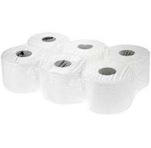 Obrazek Papier toaletowy 2 warstwowy celulozowy z gofrem super biały 147 m 12 rolek kod 52895