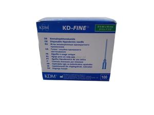 Obrazek Igły iniekcyjne Igła iniekcyjna KD-FINE 0,8x40mm  21 G X 1 1/2 100 sztuk Końcówka zielona
