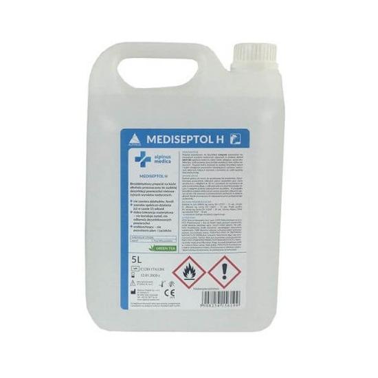 Obrazek MEDISEPTOL H 5L płyn do mycia i dezynfekcji powierzchni gotowy do użycia 30 sekund działanie bakteriobójcze, grzybobójcze, prątkobójcze, wirusobójcze