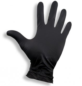 Obrazek Rękawice nitrylowe czarne Rękawiczki jednorazowe nitrylowe bezpudrowe  100 sztuk Rozmiar L