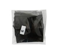 Obrazek Stringi jednorazowe damskie czarne z miękkiej przewiewnej włókniny  Stringi kosmetyczne do SPA stringi z ozdobnym wycięciem z przodu Rozmiar M 1 sztuka