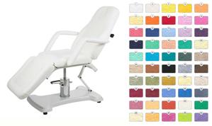 Obrazek Prześcieradło kosmetyczne frotte na standardowy fottel kosmetyczny owalny Pokrowiec na fotel kosmetyczny 60x190 cm w kolorze białym nr 1