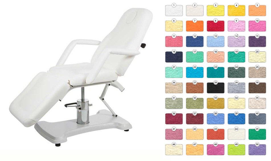 Obrazek Prześcieradło kosmetyczne frotte. Pokrowiec na fotel kosmetyczny 60x190 w kolorze ŚLIWKA nr. 37